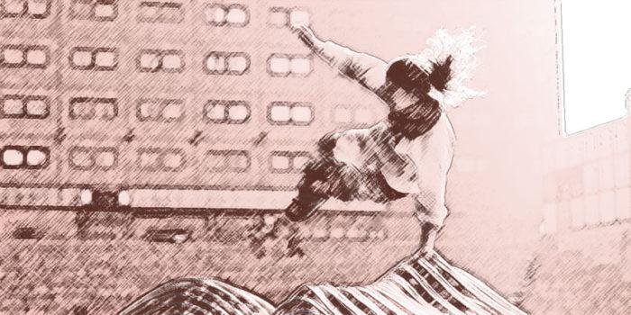 Beeld bij artikel: Jump freerunning - 2 - Nancy Moorman contentmaker met inhoud - Den Haag